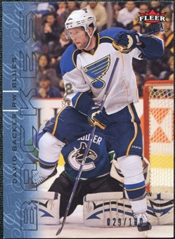 2009/10 Fleer Ultra Ice Medallion #130 David Backes /100