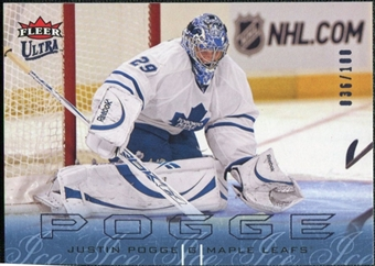 2009/10 Fleer Ultra Ice Medallion #138 Justin Pogge /100