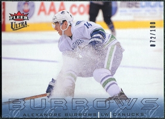 2009/10 Fleer Ultra Ice Medallion #142 Alexandre Burrows /100