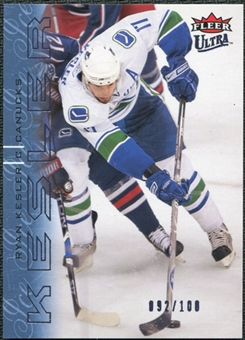 2009/10 Fleer Ultra Ice Medallion #145 Ryan Kesler /100
