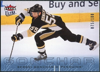 2009/10 Fleer Ultra Ice Medallion #162 Sergei Gonchar /100