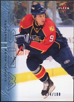2009/10 Fleer Ultra Ice Medallion #184 Stephen Weiss /100