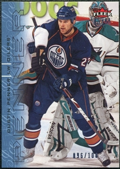 2009/10 Fleer Ultra Ice Medallion #185 Dustin Penner /100