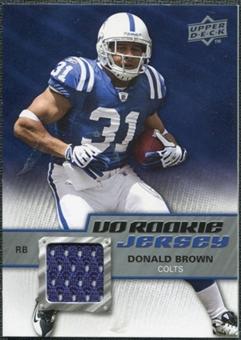 2009 Upper Deck Rookie Jersey #RJDB Donald Brown