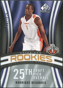 2009/10 Upper Deck SP Game Used #107 Rodrigue Beaubois RC /399