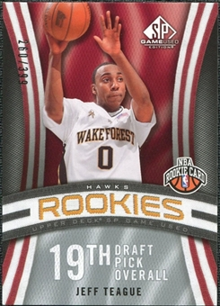 2009/10 Upper Deck SP Game Used #121 Jeff Teague RC /399