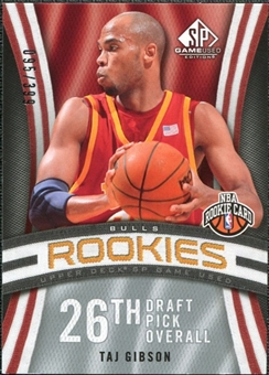 2009/10 Upper Deck SP Game Used #134 Taj Gibson RC /399