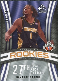 2009/10 Upper Deck SP Game Used #141 DeMarre Carroll RC /399