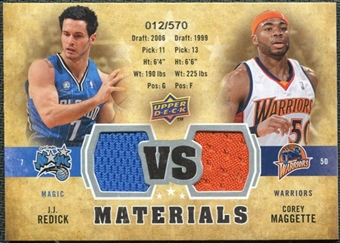2009/10 Upper Deck VS Dual Materials #VSMR Corey Maggette J.J. Redick /570