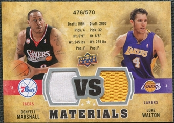2009/10 Upper Deck VS Dual Materials #VSMW Donyell Marshall Luke Walton /570
