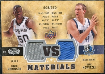 2009/10 Upper Deck VS Dual Materials #VSNR David Robinson Dirk Nowitzki /570