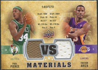 2009/10 Upper Deck VS Dual Materials #VSPA Paul Pierce Trevor Ariza /570