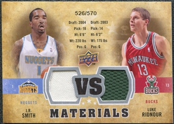 2009/10 Upper Deck VS Dual Materials #VSRS J.R. Smith Luke Ridnour /570