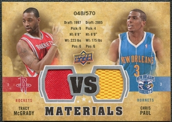 2009/10 Upper Deck VS Dual Materials #VSTC Chris Paul Tracy McGrady /570
