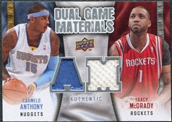 2009/10 Upper Deck Game Materials Dual #DGAT Carmelo Anthony Tracy McGrady