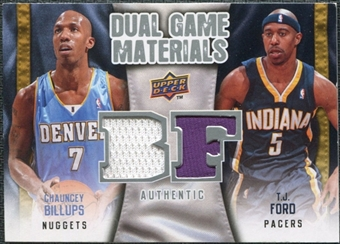 2009/10 Upper Deck Game Materials Dual #DGBF Chauncey Billups T.J. Ford