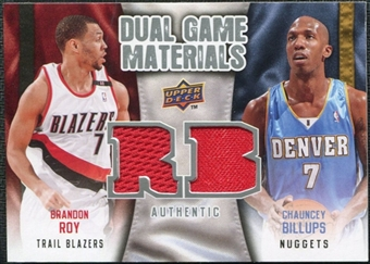 2009/10 Upper Deck Game Materials Dual #DGBR Brandon Roy Chauncey Billups