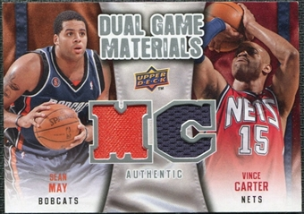 2009/10 Upper Deck Game Materials Dual #DGCM Sean May Vince Carter