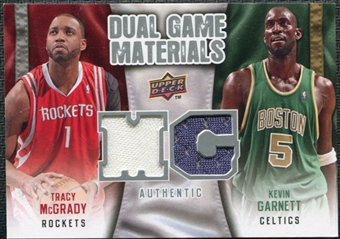 2009/10 Upper Deck Game Materials Dual #DGGM Kevin Garnett Tracy McGrady