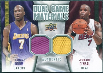 2009/10 Upper Deck Game Materials Dual #DGON Jermaine O'Neal Lamar Odom