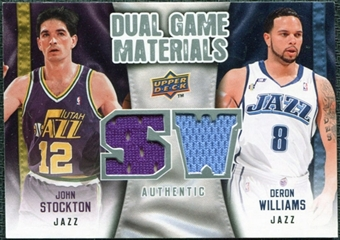 2009/10 Upper Deck Game Materials Dual #DGSW Deron Williams John Stockton