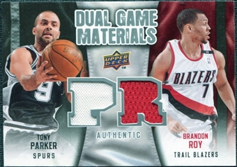 2009/10 Upper Deck Game Materials Dual #DGTB Brandon Roy Tony Parker