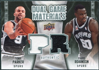 2009/10 Upper Deck Game Materials Dual #DGTD David Robinson Tony Parker