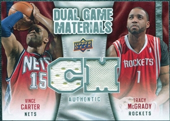 2009/10 Upper Deck Game Materials Dual #DGVT Tracy McGrady Vince Carter