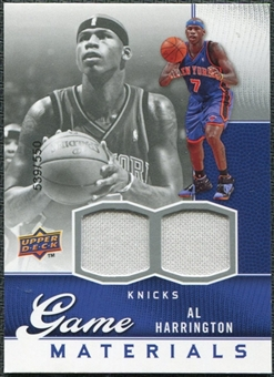 2009/10 Upper Deck Game Materials #GJAH Al Harrington /550