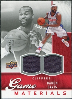 2009/10 Upper Deck Game Materials #GJBD Baron Davis /550