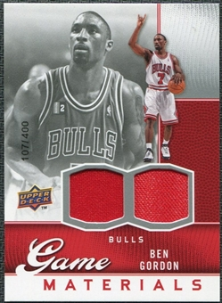 2009/10 Upper Deck Game Materials #GJBG Ben Gordon /400