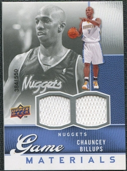 2009/10 Upper Deck Game Materials #GJBI Chauncey Billups /550