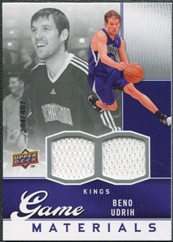 2009/10 Upper Deck Game Materials #GJBU Beno Udrih /487