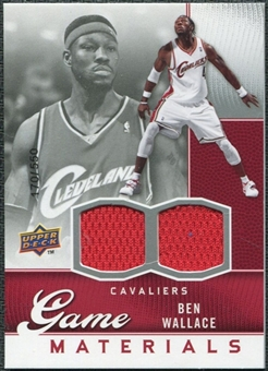 2009/10 Upper Deck Game Materials #GJBW Ben Wallace /550