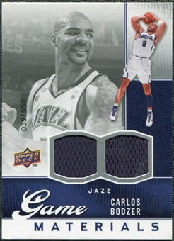 2009/10 Upper Deck Game Materials #GJCB Carlos Boozer /550
