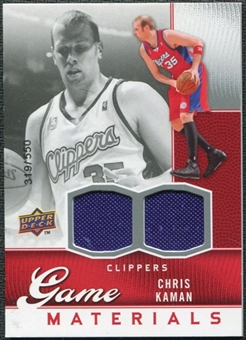 2009/10 Upper Deck Game Materials #GJCK Chris Kaman /550