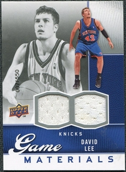 2009/10 Upper Deck Game Materials #GJDL David Lee /550