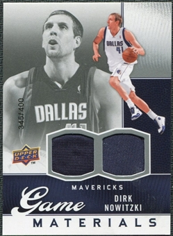 2009/10 Upper Deck Game Materials #GJDN Dirk Nowitzki /400