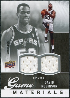 2009/10 Upper Deck Game Materials #GJDR David Robinson /400