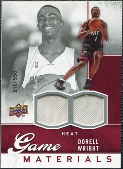 2009/10 Upper Deck Game Materials #GJDW Dorell Wright /550