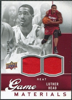 2009/10 Upper Deck Game Materials #GJHE Luther Head