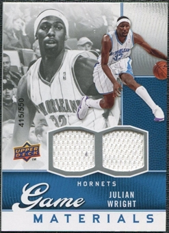 2009/10 Upper Deck Game Materials #GJJU Julian Wright /550