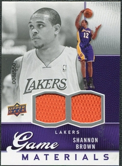 2009/10 Upper Deck Game Materials #GJSB Shannon Brown /550