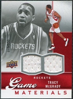 2009/10 Upper Deck Game Materials #GJTM Tracy McGrady /550