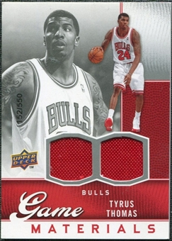 2009/10 Upper Deck Game Materials #GJTT Tyrus Thomas /550