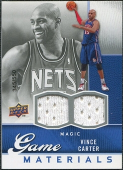 2009/10 Upper Deck Game Materials #GJVC Vince Carter /550