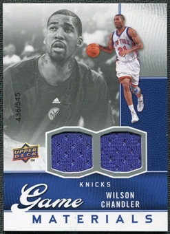 2009/10 Upper Deck Game Materials #GJWC Wilson Chandler /545