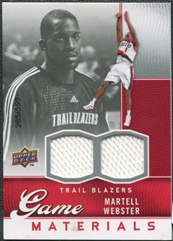2009/10 Upper Deck Game Materials #GJWE Martell Webster /550