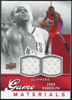 2009/10 Upper Deck Game Materials #GJZR Zach Randolph /400