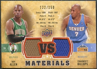 2009/10 Upper Deck VS Dual Materials Bronze #VSAB Chauncey Billups Ray Allen /150